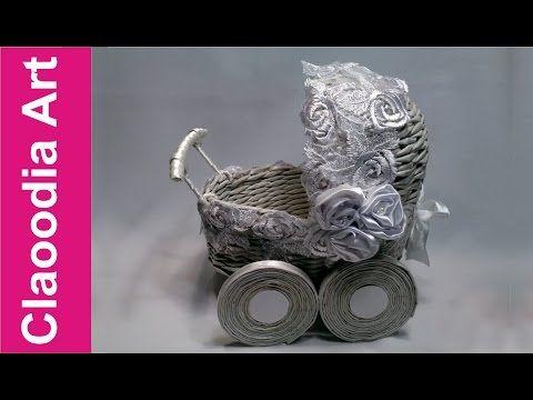 Прогулочная коляска, плетеная бумага - YouTube