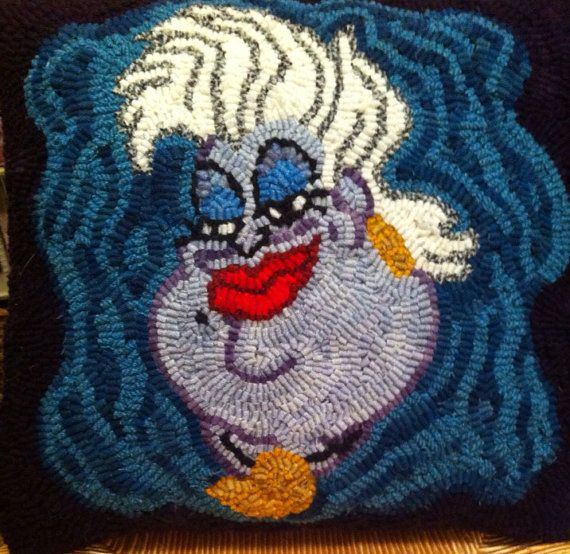 Ursula Rug Hooked Pillow on Etsy, $60.00