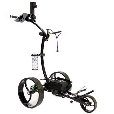 "Cart-Tek GRX-950 Electric Golf Trolley with Distance Advance  The GRX-950 includes a Variable Speed Dial to match your walking pace and a Distance Timer to send your cart out ahead of you or to the next Tee box. The Over-Sized Drive Wheels snap on effortlessly and can be set to ""Freewheel"" Mode in case of emergency loss of power or the need to pull your cart while ""catching a ride"" with a buddy.   http://www.sunrisegolfcarts.com/Cart-Tek-p/ck-grx950.htm"