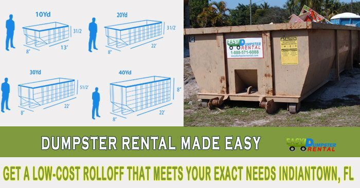 Indiantown, FL at EasyDumpsterRental Dumpster Rental in Indiantown, FL Get A Low-Cost RollOff That Meets Your Exact Needs How We Serve Indiantown, Florida in Efficient Waste Disposal: Easy Dumpster Rental has provided 100,000 open top containers to satisfied customers across America. The combination of fast service and low cost... https://easydumpsterrental.com/florida/dumpster-rental-indiantown-fl/