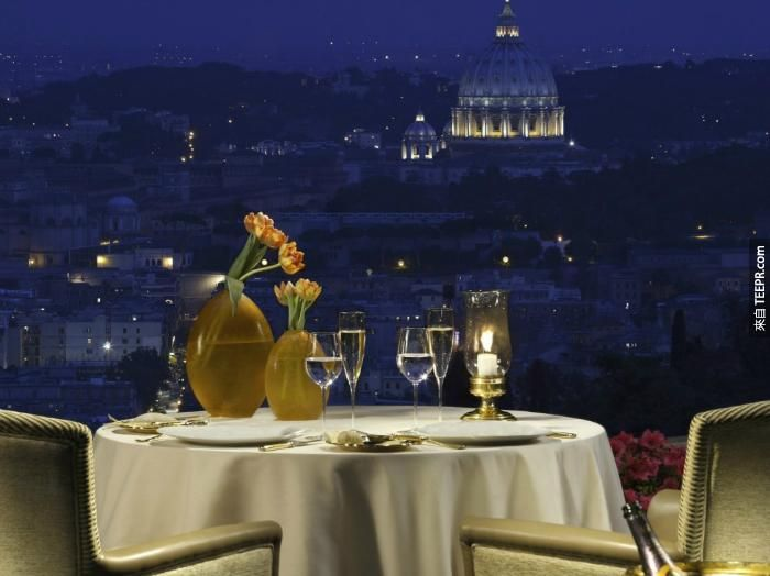 La Pergola Rome, Italy 美图 Best restaurants in rome