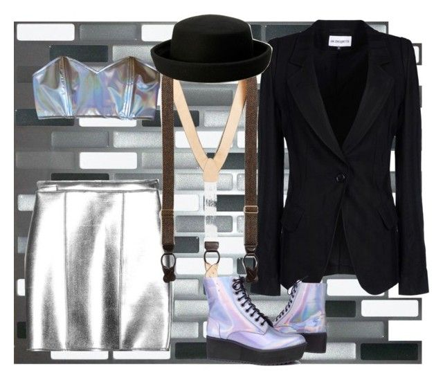 silver girl by slytheriner on Polyvore featuring Ann Demeulemeester, sass & bide and Brooks Brothers