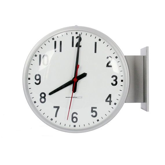 double-sided clock