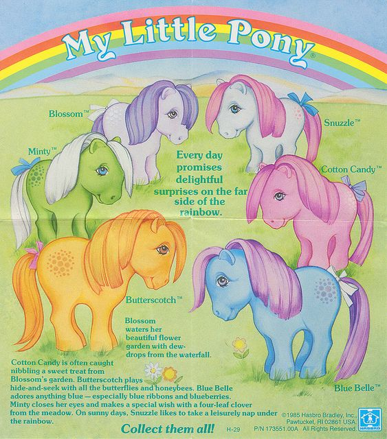 My Little Pony G1 - This was my favorite cartoon, and my ponies were some of my favorite toys!  (I even have an entire pinboard dedicated to My Little Pony G1 and G2.)