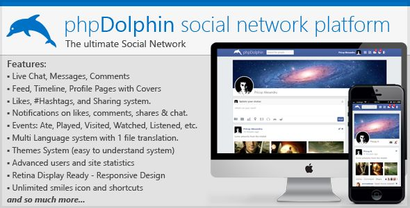 phpDolphin Social Network Platform