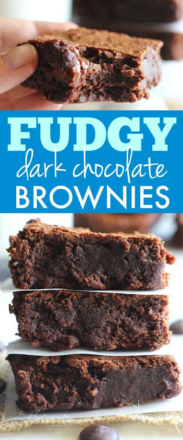 Fudgy Dark Chocolate Brownies are so rich and decadent; you need this recipe in your life!