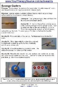 Using sponger curlers for fine motor skills - Re-pinned by @PediaStaff – Please Visit http://ht.ly/63sNt for all our pediatric therapy pins
