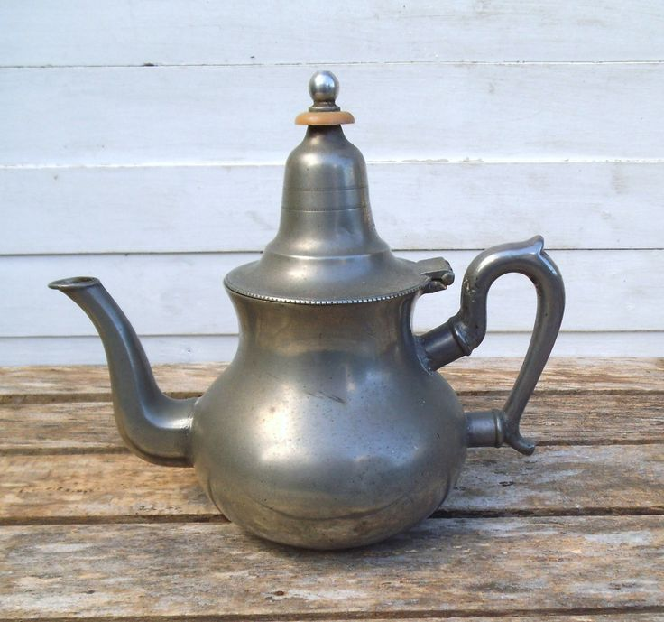 Pewter Teapot. Decorative Pewter Teapot. Bee Hallmark. Photo or Theatre Prop…