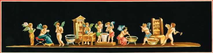 Affresco originale - Casa dei Vettii a Pompei