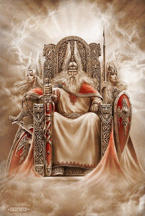 Perun is the son of Svarog and Lada whose birth was heralded with a might earthquake. Perun is also the most famous of the Svarozhich brothers who rule the heavens. But Perun is also the most powerful and most temperamental of them all which may be why he was chosen to be the leader of the gods in Slavic mythology.