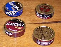 Dipping tobacco - Wikipedia, the free encyclopedia