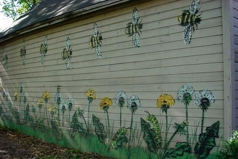 Paint the shed or garage.