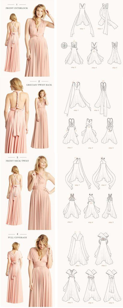MACloth Convertible Wrap Tie Jersey Long Bridesmaid Dress Formal Gown