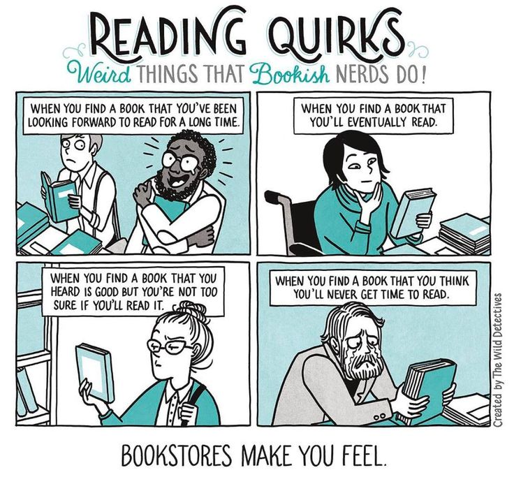 Bookstores make you feel...
