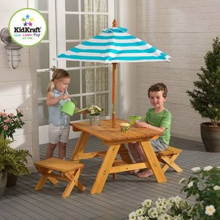 Toddler Picnic Table With Umbrella   Google Search