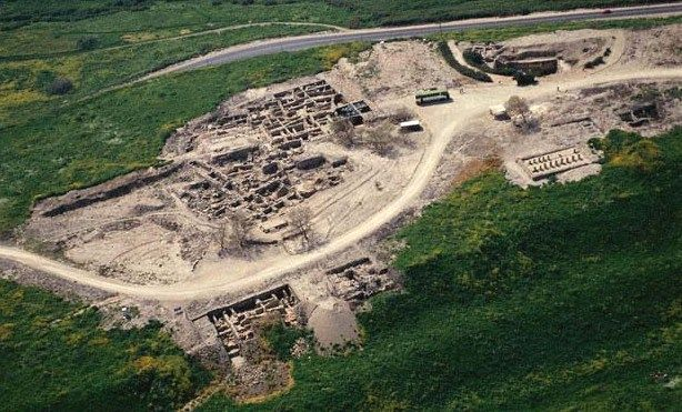 Some of the excavations of the city of Hazor