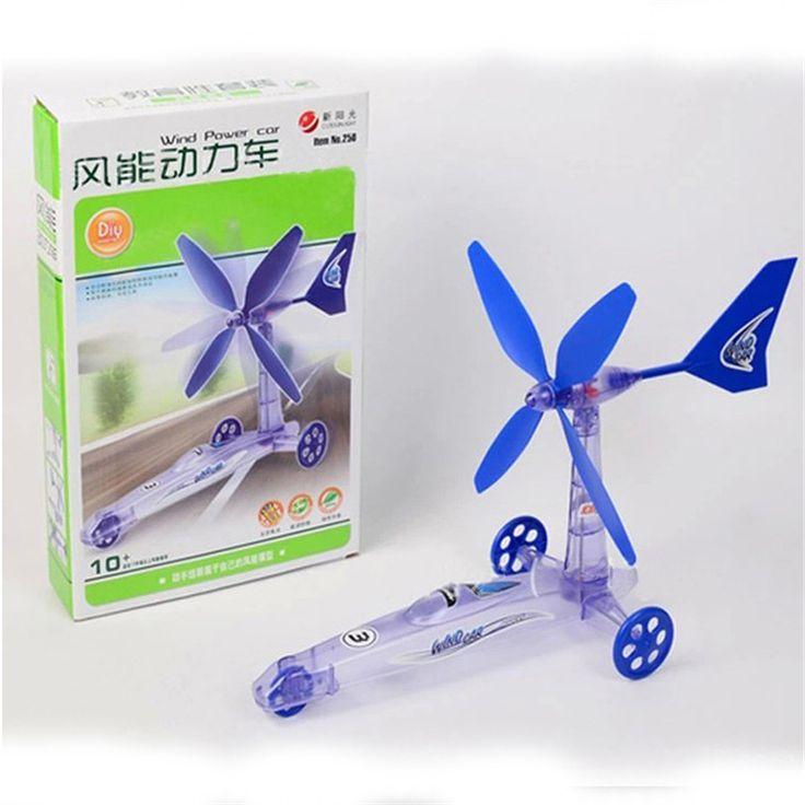 TS Construir Su Propio Viento Powered Car Chicos Mayores Kit Educativo Juguetes Aug26.15(China (Mainland))