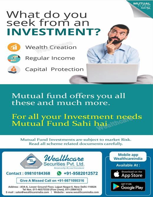 What do you Seek from an Investment? If you want to create