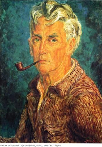 Self-Portrait (Pipe and Brown Jacket) - John French Sloan  from http://www.wikipaintings.org/en/john-french-sloan/self-portrait-pipe-and-brown-jacket-1947