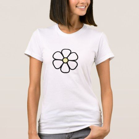 White Flower Clip-Art T-Shirt - tap, personalize, buy right now!