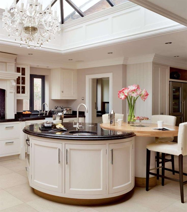 Love This Curved Island Looks Very Stylish In This Kitchen. Nice Light And  Spacious Kitchen
