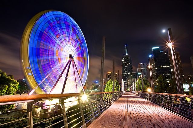 Melbourne at night.  Love the slow shutter