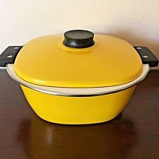Midcentury Modern Catherineholm Enamelware Lid Covered Pan Dutch Oven Casserole in Collectibles, Kitchen & Home, Kitchenware, Cookware, Enamelware | eBay