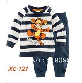 Free shipping 6sets/lot Baby Long sleeves cotton pajamas children pyjamas children sleepwear tiger-in Clothing Sets from Apparel & Accessories on Aliexpress.com