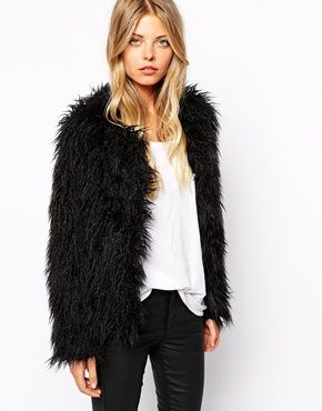 17 Best ideas about Black Faux Fur Jacket on Pinterest | Black fur ...