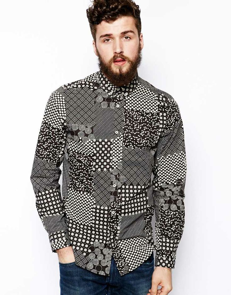 Plectrum by Ben Sherman Shirt with Geometric Print