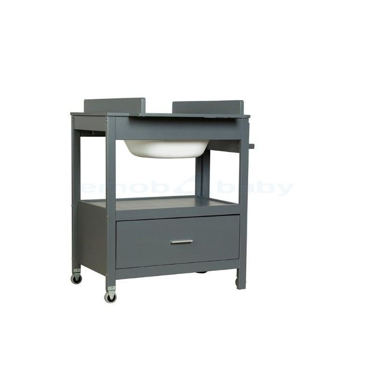 Table langer avec baignoire int gr e emma anthracite - Table a langer compact ...