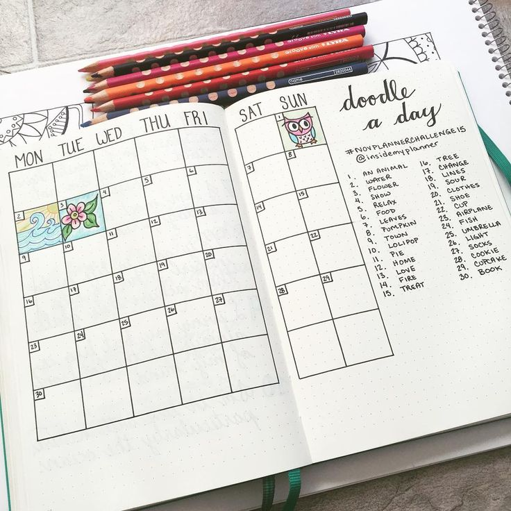 """""""I'm excited about this cute #novplannerchallenge15 by @insidemyplanner!  I followed @passionthemedlife's lead and created a month spread to keep all of my…"""""""