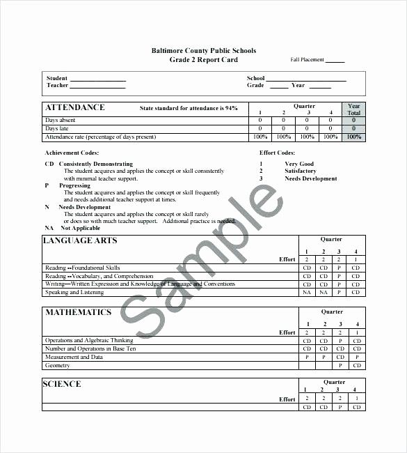 Homeschool Report Card Template Word New Tario School Report Card Template Progress Childcare Report Card Template School Report Card Progress Report Template