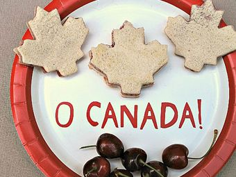 Cream Cheese and Jam Sandwiches for Canada Day Party
