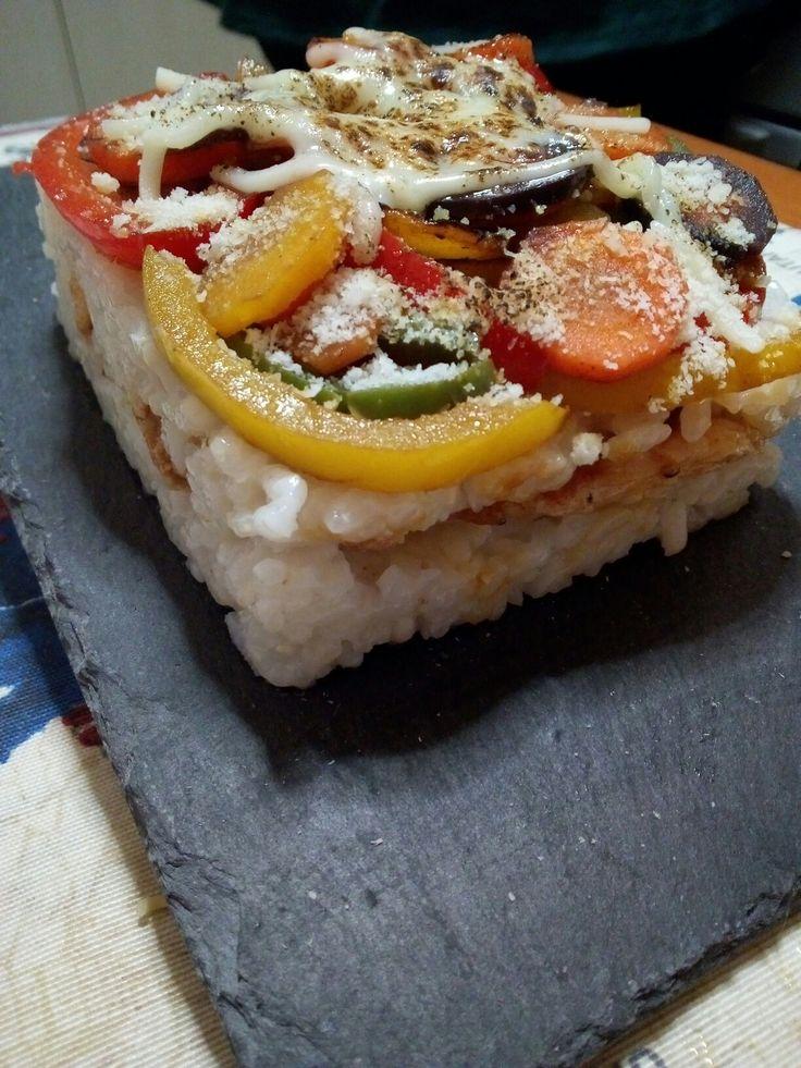 Lasagna de arroz .