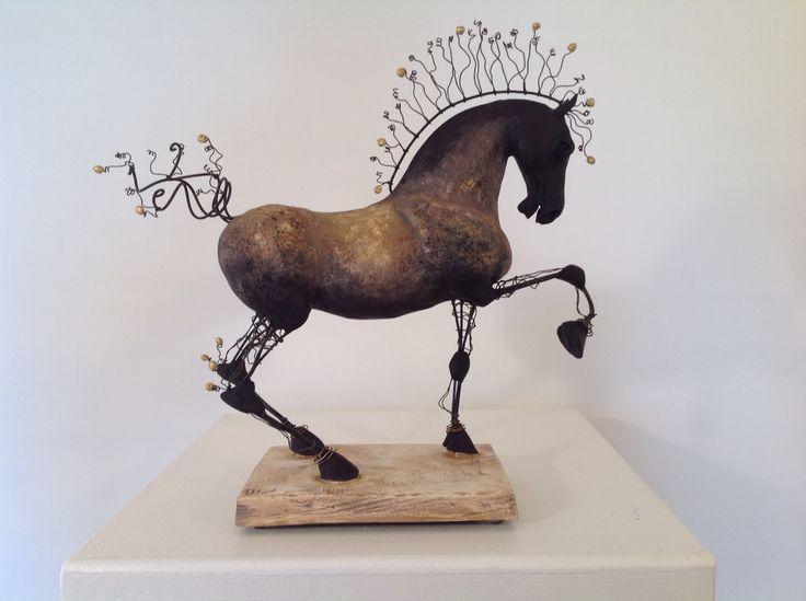 Lena Untidt: 'Fairytale Horse' 2016 new sculpture.