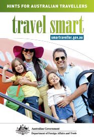 Travel smart – hints for Australian travellers brochure cover