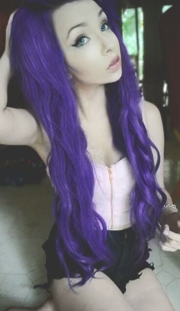 I'm just obsessed with purple hair ok