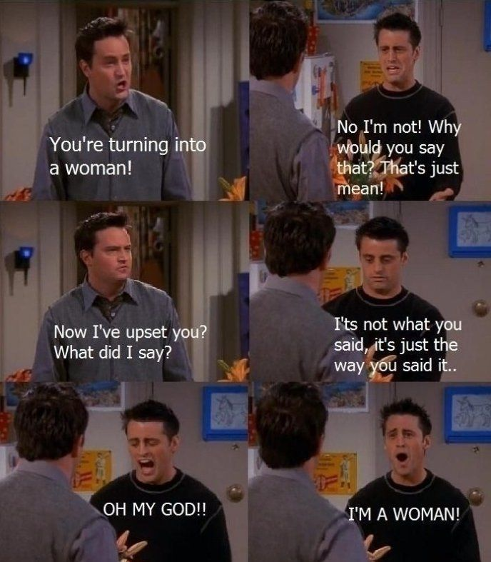 Gotta love Joey and Chandler..i just love friends: Friends Tv, Quote, Woman, Giggles, Funny Stuff, Chandler, 3 Friends, Humor, Friends Memes