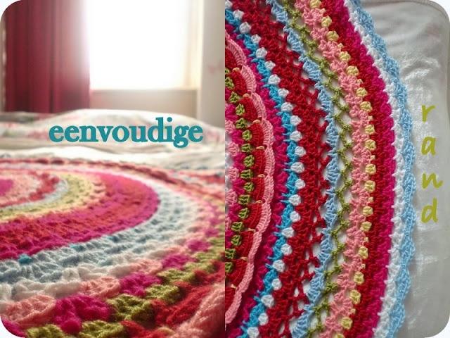 Round crochet blanket by http://hakenenmeer.blogspot.com.au
