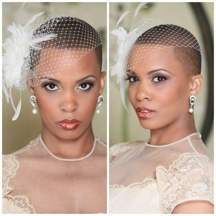 1001 Idees Pour Une Coiffure Mariage Cheveux Courts Les Coiffures Des Invitees Natural Hair Bride Short Wedding Hair Wedding Hair Inspiration