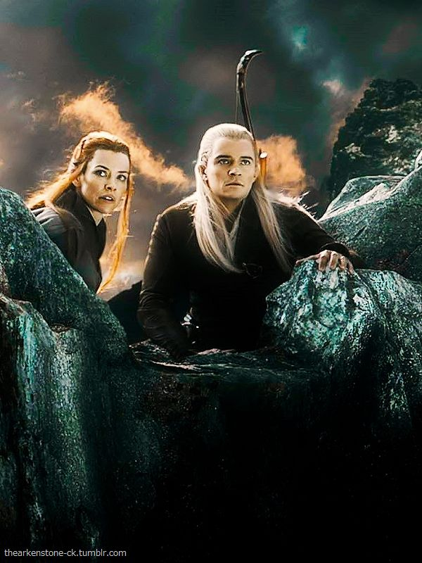 Legolas and Tauriel in the botfa