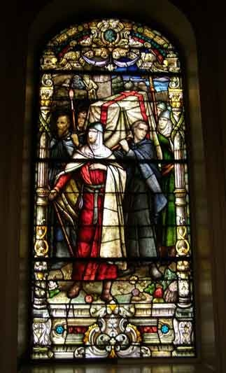 KNIGHTS TEMPLAR STAINED GLASS WINDOW
