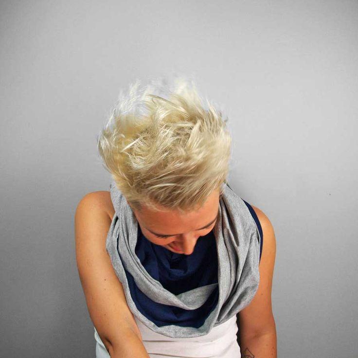 KOMIN TUBA SZAL ATRAMENT #wiskoza #tube #scarve #gray