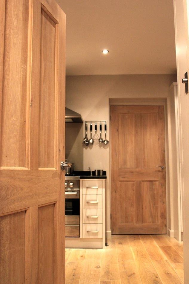 Victorian 4 Flat Panel Solid Oak Door