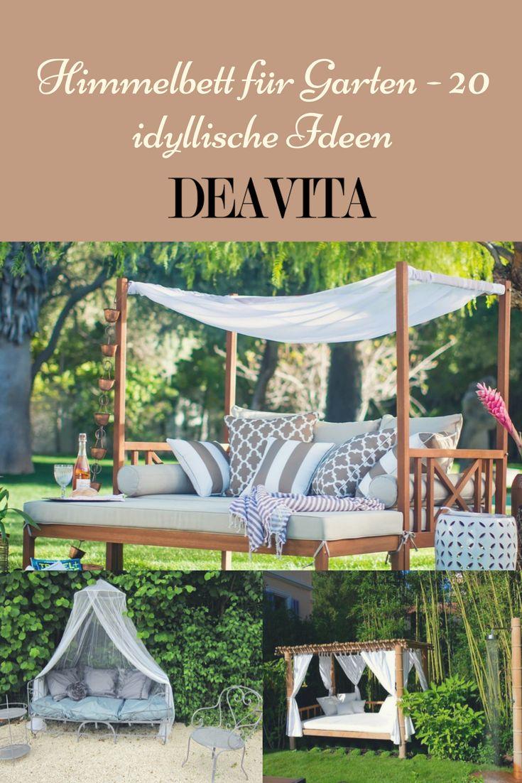 Ein Himmelbett für Garten verspricht unverwechselbare Atmosphäre, Stunden der Entspannung in der Natur und erholsame Übernachtung unter freiem Himmel.
