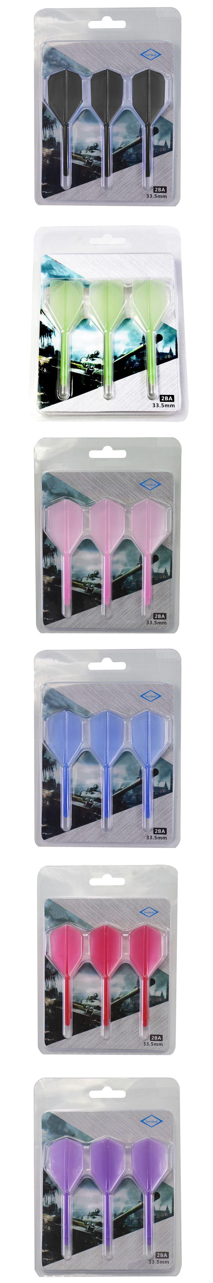2BA Screw Soft Light-weight Flexible Durable Anti-fall Integrated Dart Flight, In-one Flight, Dart Accessories, 3 PCS Packed