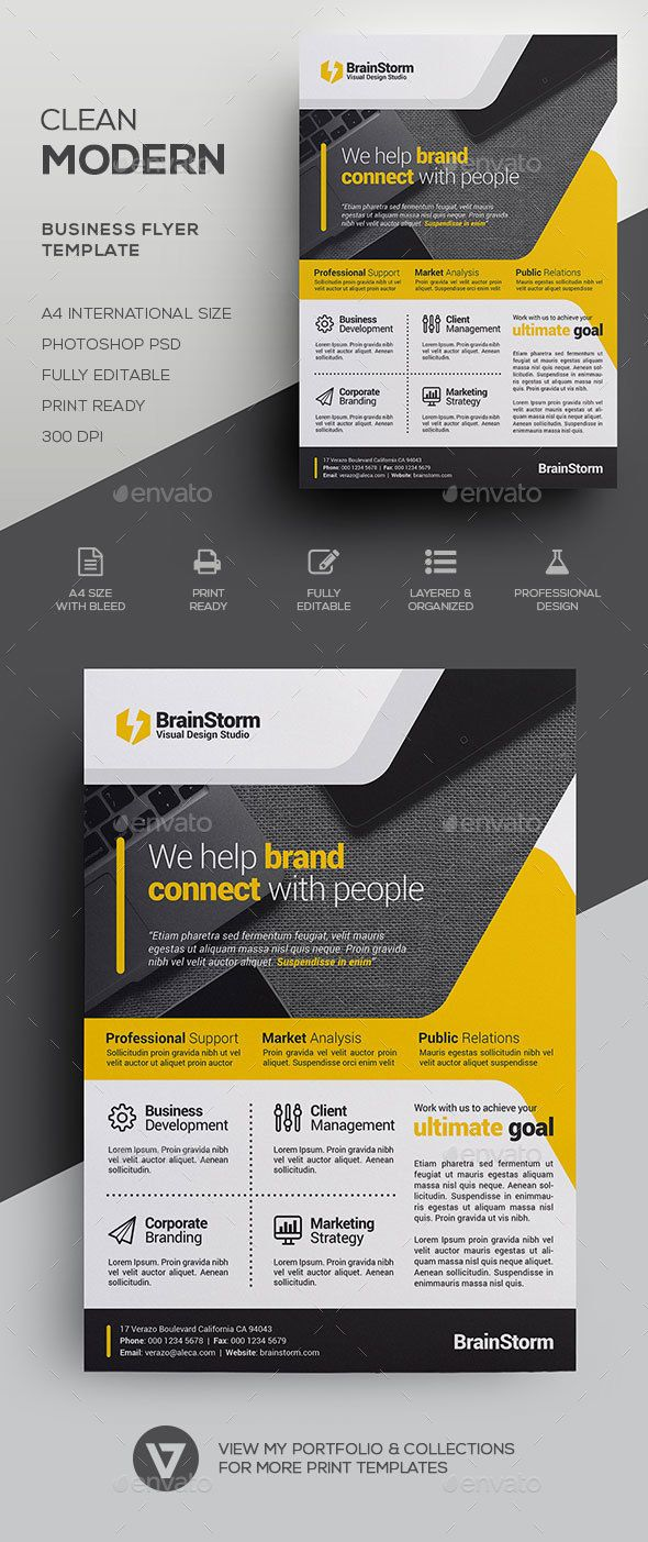 Corporate Business Flyer Template by verazo Clean & Modern Corporate Flyer Template A highly versatile corporate business flyer suitable for all business industry. Create stu