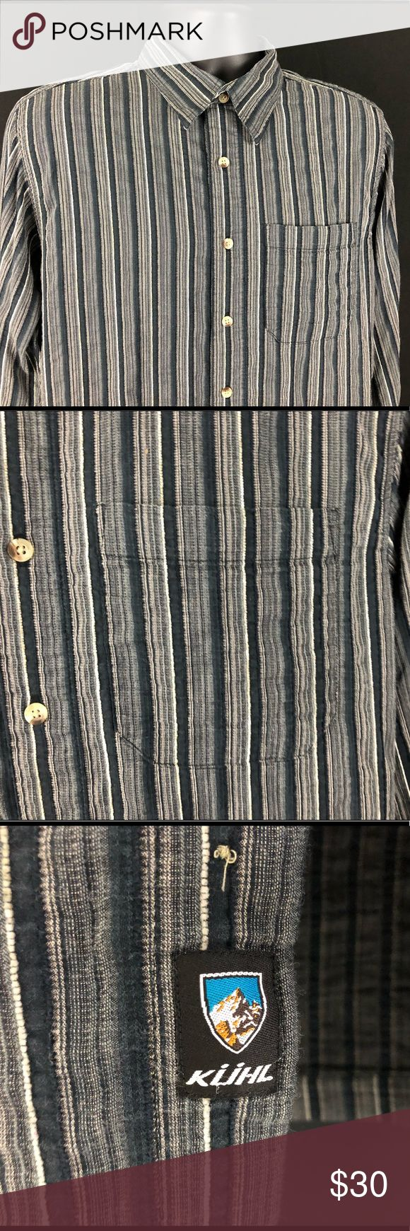KÜHL Mens Casual Striped Button Front Shirt M KUHL Great pre-owned condition NO damage or flaws from smoke free home.    Size- Mens Medium   ALL ORDERS SHIP NEXT BUSINESS DAY WITH CLEARED PAYMENT THANKS FOR YOUR INTEREST Kuhl Shirts Casual Button Down Shirts