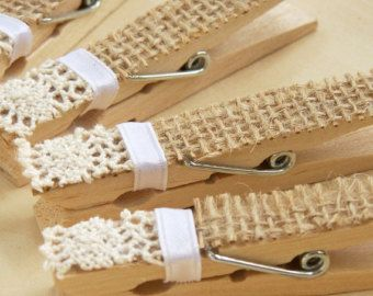 Pernos de encaje venta ropa  blanco envejecido pinzas